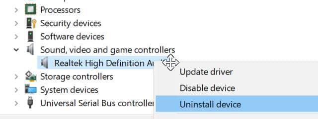 Cài đặt lại Windows 10 trình điều khiển âm thanh pic2