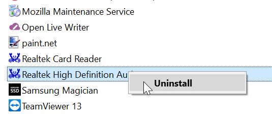 cài đặt lại trình điều khiển âm thanh trong Windows 10 pic7