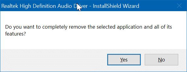 cài đặt lại trình điều khiển âm thanh trong Windows 10 pic8