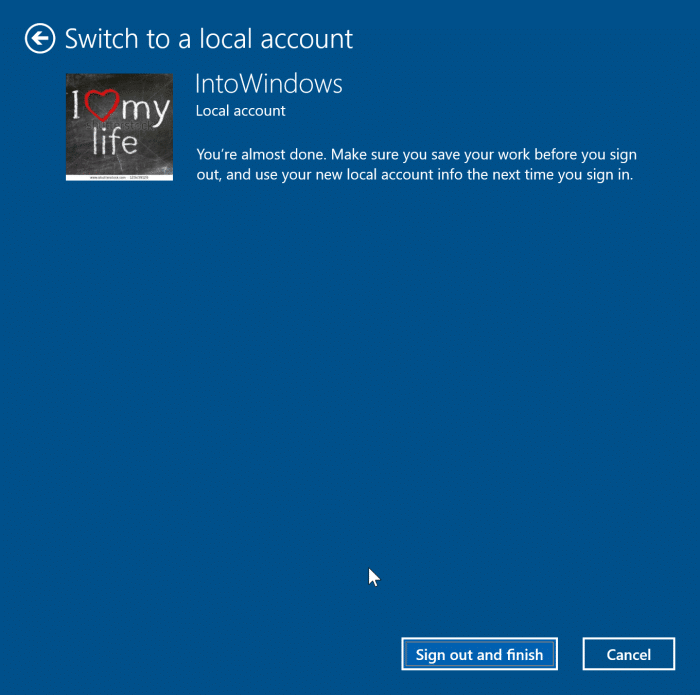 đăng xuất khỏi tài khoản Microsoft trong Windows 10 pic6