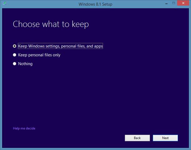Sửa chữa cài đặt Windows 8.1 Bước 5