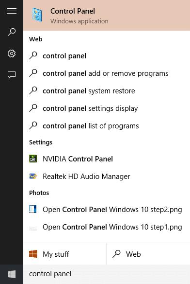 Mở Control Panel Windows 10 step3