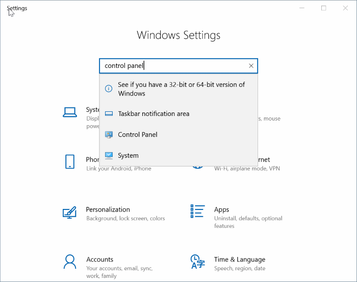 mở control Panel trong Windows 10 pic5