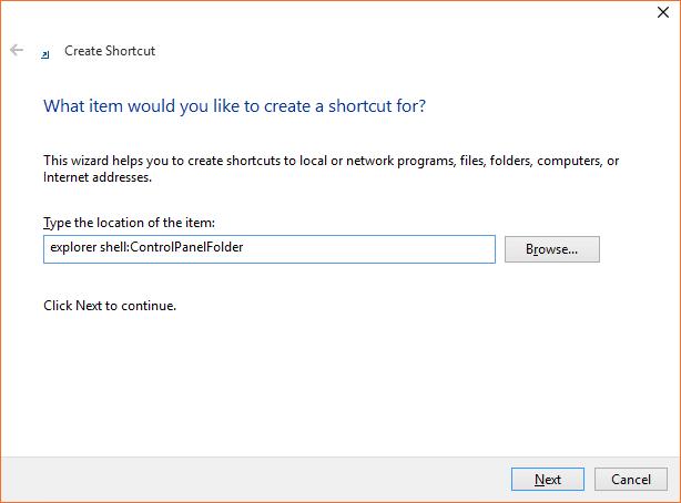 Mở Control Panel Windows 10 step5