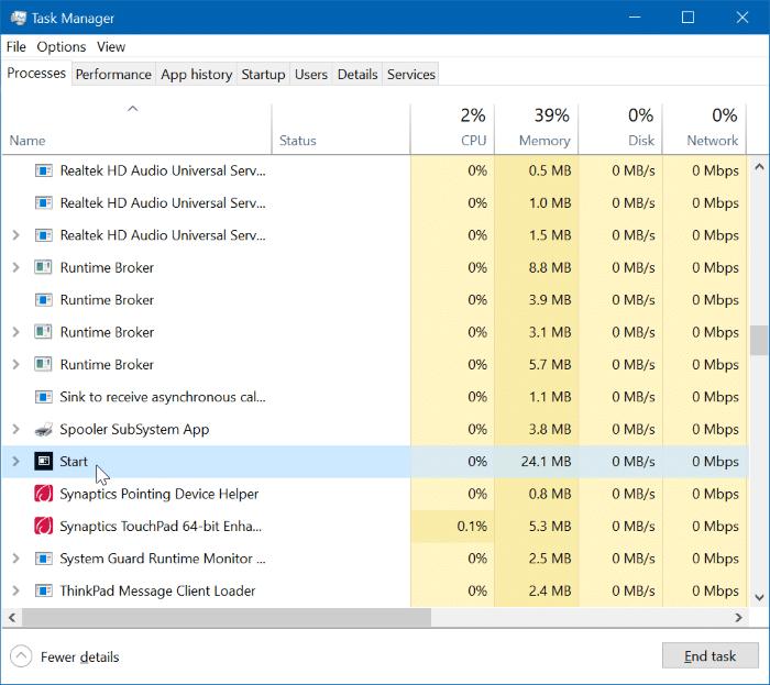 khởi động lại menu Start trong Windows 10 pic3