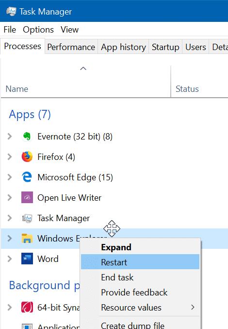 khởi động lại menu Start trong Windows 10 pic4