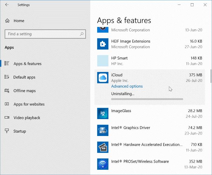 Gỡ cài đặt iCloud và ảnh iCloud từ Windows 10 pic22