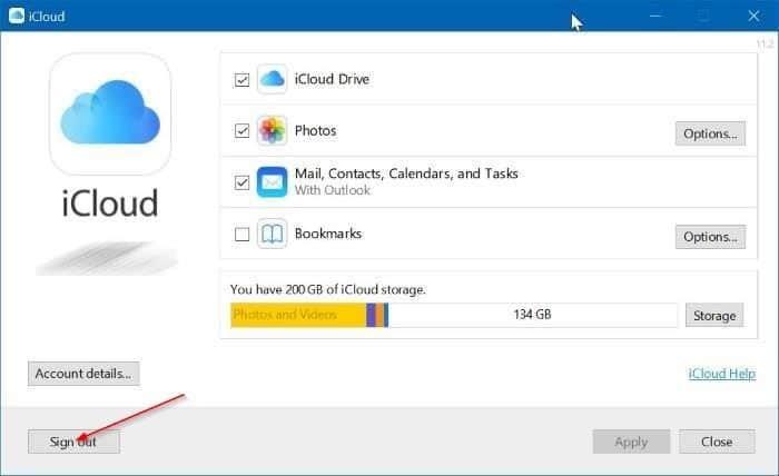 Gỡ cài đặt iCloud và ảnh iCloud khỏi Windows 10 pic2