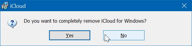 Gỡ cài đặt iCloud và ảnh iCloud khỏi Windows 10 pic3