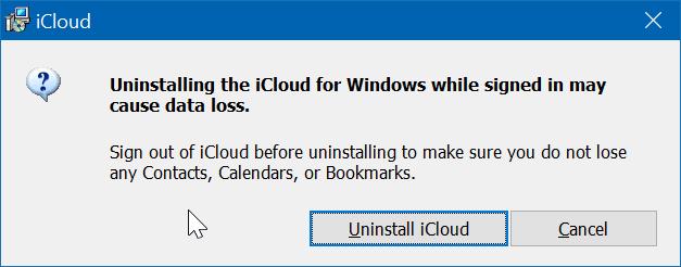 Gỡ cài đặt iCloud và ảnh iCloud khỏi Windows 10 pic5