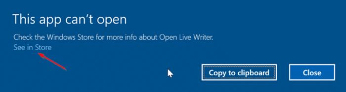 Lỗi không thể mở ứng dụng này