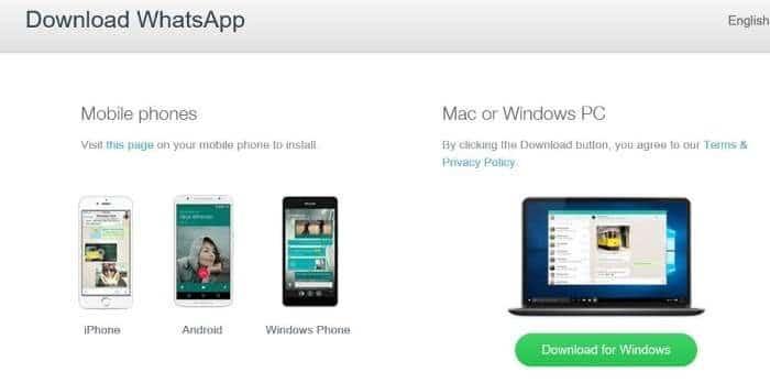cài đặt máy tính để bàn Whatsapp trên Windows 10 step1