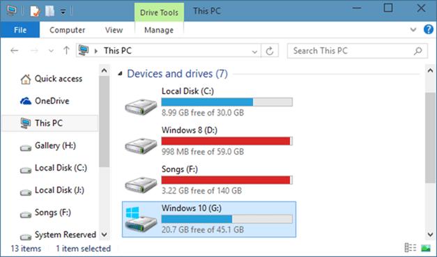 Xóa thư mục Windows.old trong Windows 10 step1