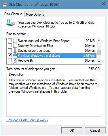 Xóa thư mục Windows.old trong Windows 10 step6