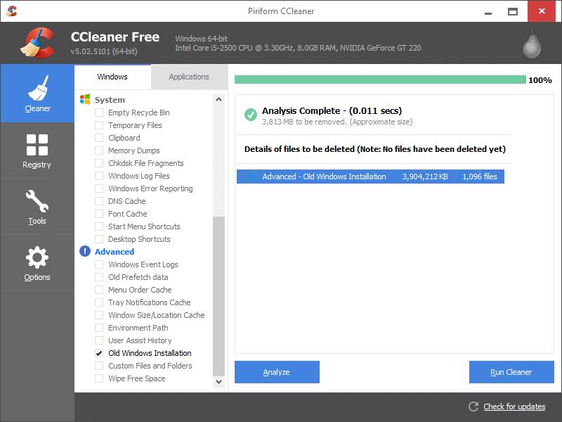 Xóa thư mục Windows.old trong Windows 10 step8