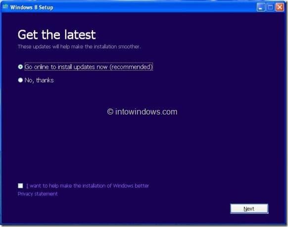 Nâng cấp XP lên Windows 8 Step3