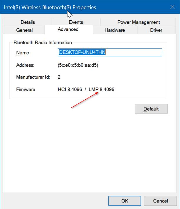 kiểm tra phiên bản bluetooth trong Windows 10 pic3