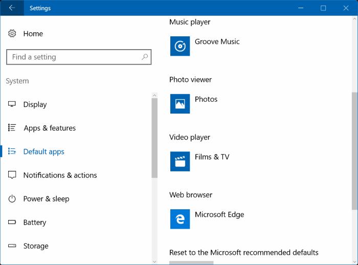 đặt VLC media player làm trình phát video mặc định trong Windows 10 pic1