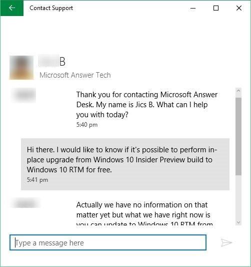 Trò chuyện với Microsoft hỗ trợ Windows 10 picture6
