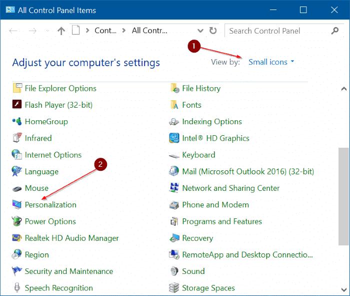 xóa chủ đề trong Windows 10 pic2