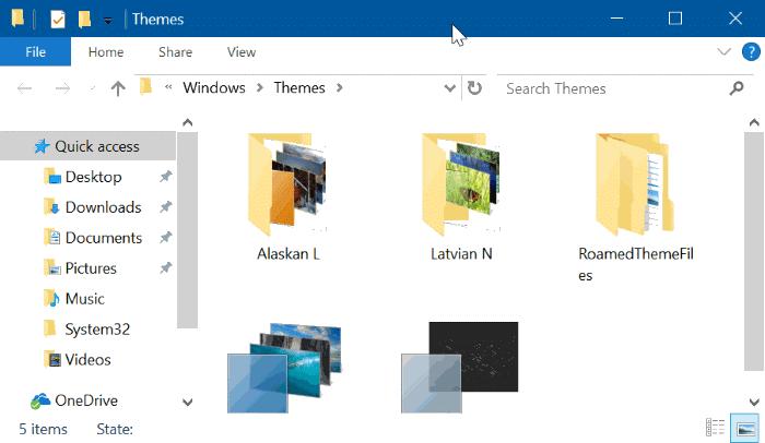 xóa chủ đề trong Windows 10 pic5