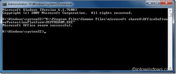 Cách mở rộng phiên bản dùng thử Office 2010