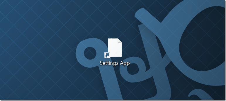 Tạo phím tắt trên màn hình cho ứng dụng Cài đặt trong Windows 10 pic4