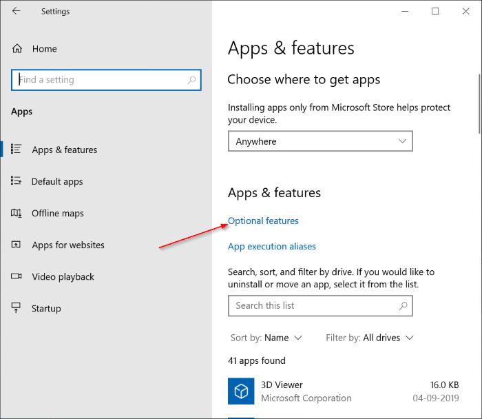 Cài đặt và gỡ cài đặt Paint trong Windows 10 pic1