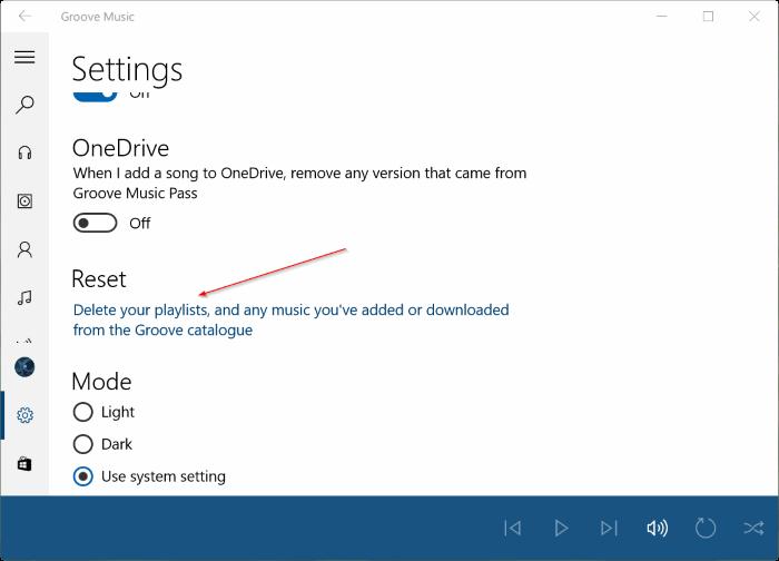 Đặt lại Groove Music trong Windows 10 pic3
