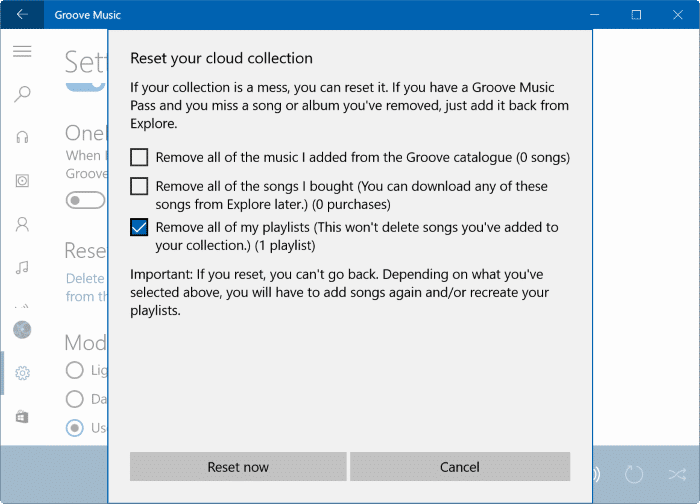 Đặt lại Groove Music trong Windows 10 pic4