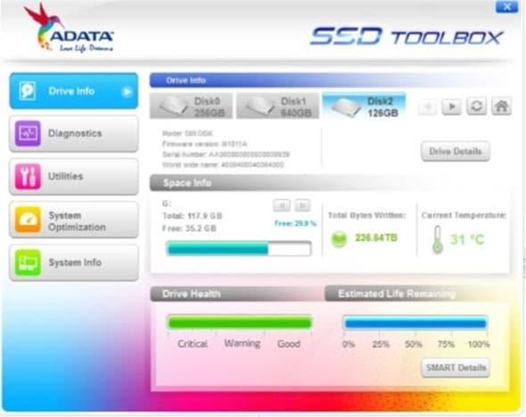 Hộp công cụ SSD ADATA