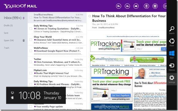 Đăng xuất trong ứng dụng Yahoo Mail
