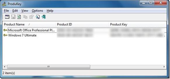 Khôi phục khóa sản phẩm Office 2010