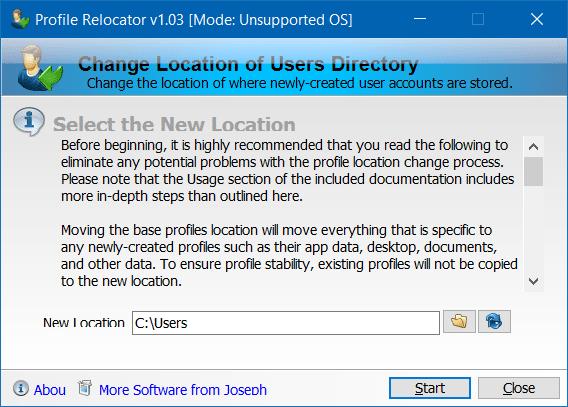 Di chuyển thư mục hồ sơ Người dùng sang một ổ đĩa khác trong Windows 10 step2