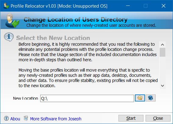 Di chuyển thư mục hồ sơ Người dùng sang một ổ đĩa khác trong Windows 10 step3