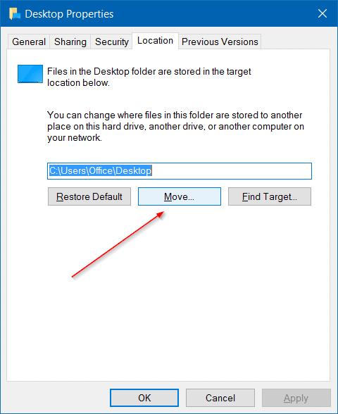 Di chuyển thư mục người dùng trong windows 10