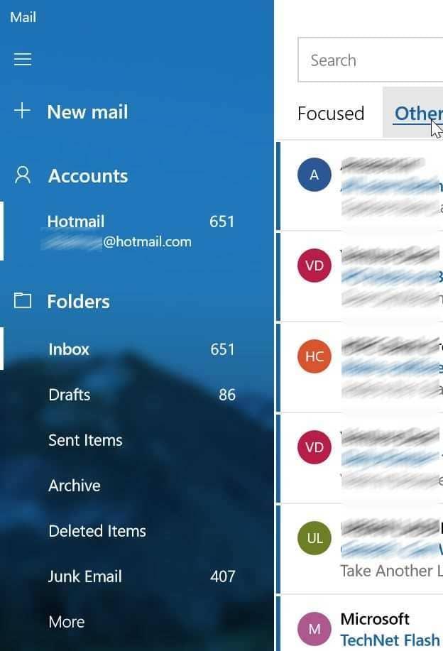 mở thư mục thư rác hoặc thư rác trong Windows 10 mail pic4