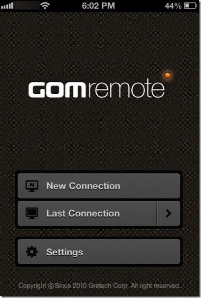 Điều khiển GOM Media Player từ Phone Picture3
