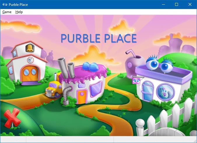 chơi địa điểm màu tím trong windows 10