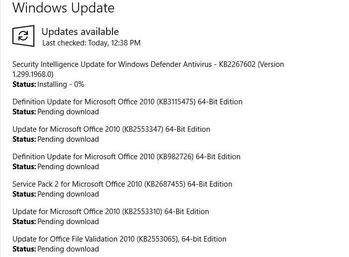 cài đặt trình quản lý hình ảnh văn phòng trong Windows 10 - Cập nhật Windows
