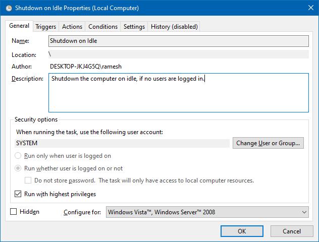 cài đặt các bản update and shut down windows 10