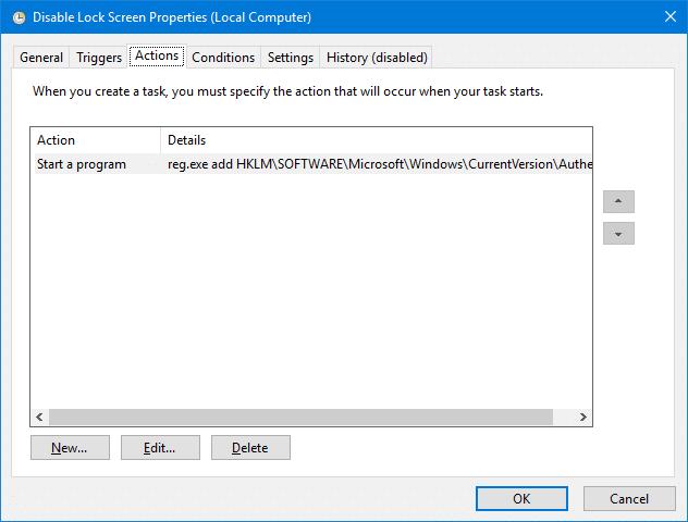 tắt màn hình khóa trong windows 10