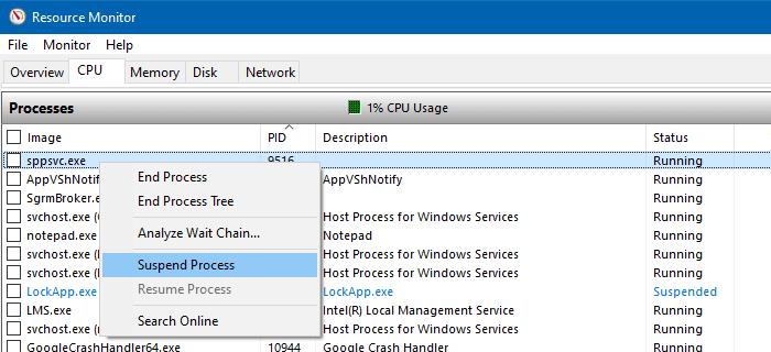 dịch vụ bảo vệ phần mềm microsoft sppsvc sử dụng cpu cao