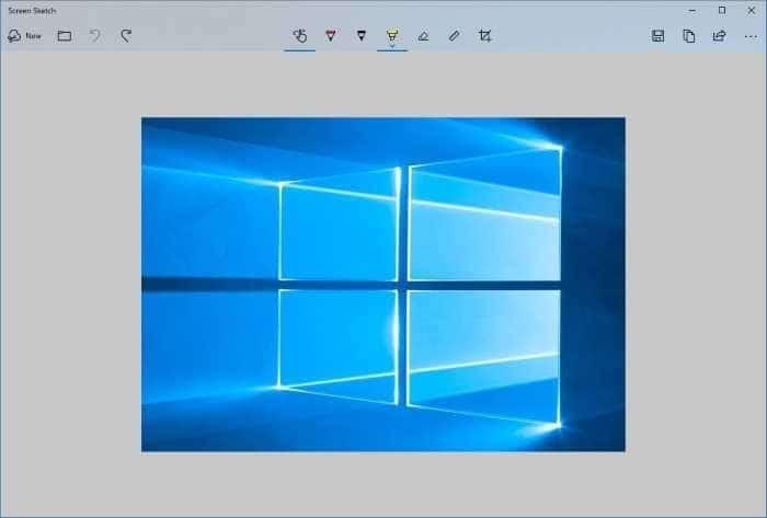 sử dụng phím màn hình in để mở Screen Sketch trong Windows 10 pic1