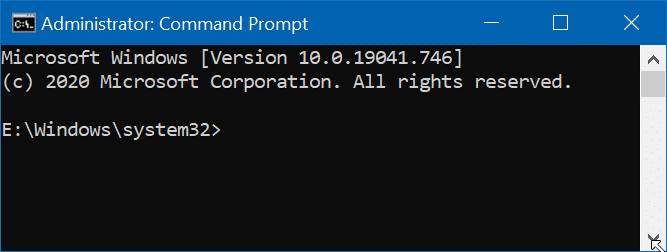 open command prompt as administrator in Windows 10