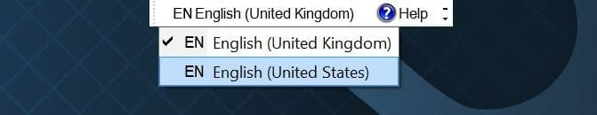 bật hoặc tắt thanh ngôn ngữ trong Windows 10