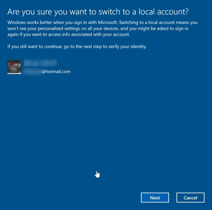 đăng xuất khỏi tài khoản Microsoft trong Windows 10 pic2
