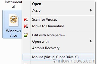 How To Mount An ISO File In Windows 7 and Windows 8