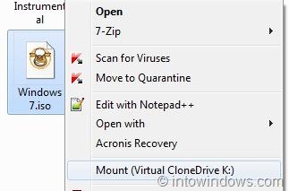 Cách gắn tệp ISO trong Windows 7 và Windows 8