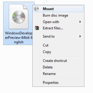 Gắn tệp ISO trong Windows 8